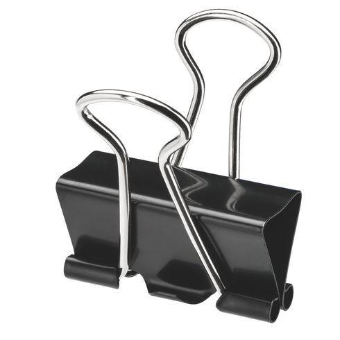 Pince double clip noire 51 mm - Boîte de 10