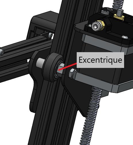 Excentrique axe Z Creality Ender 3