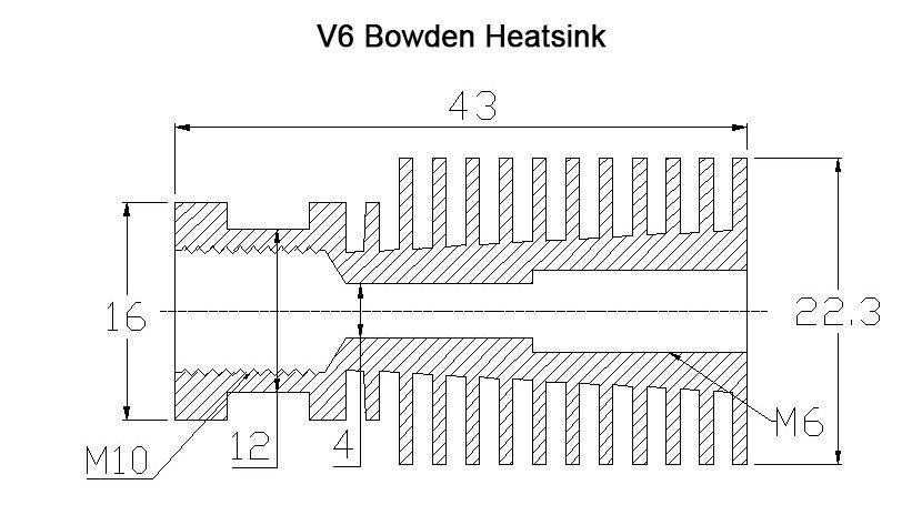 E3D V6 J head Hotend Extruder Kit 3D Printer Parts Bowden Extruder ...