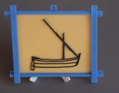 Barque avec cadre