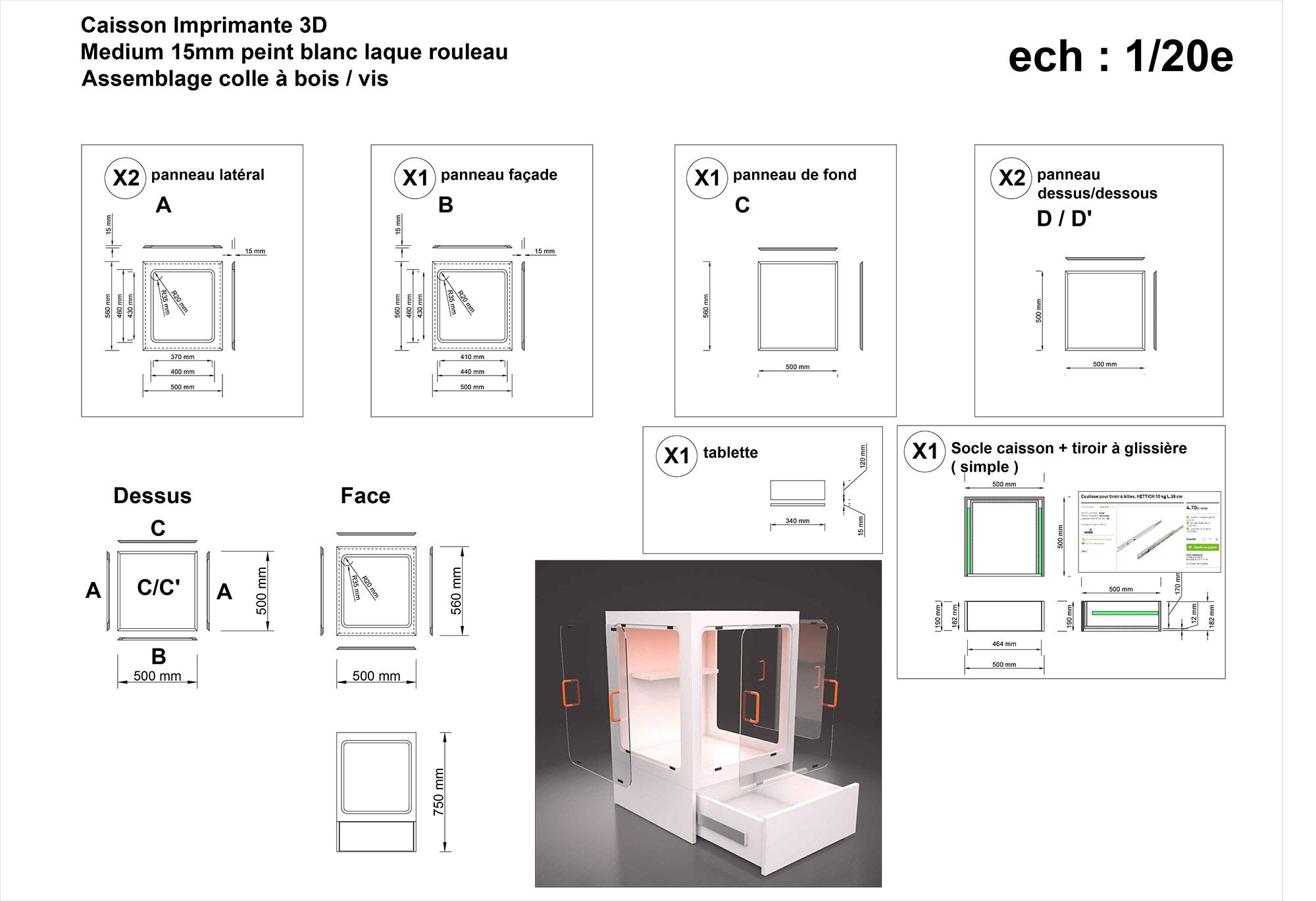 caisson en plexi discovery 200 dagoma forum pour les imprimantes 3d et l 39 impression 3d. Black Bedroom Furniture Sets. Home Design Ideas