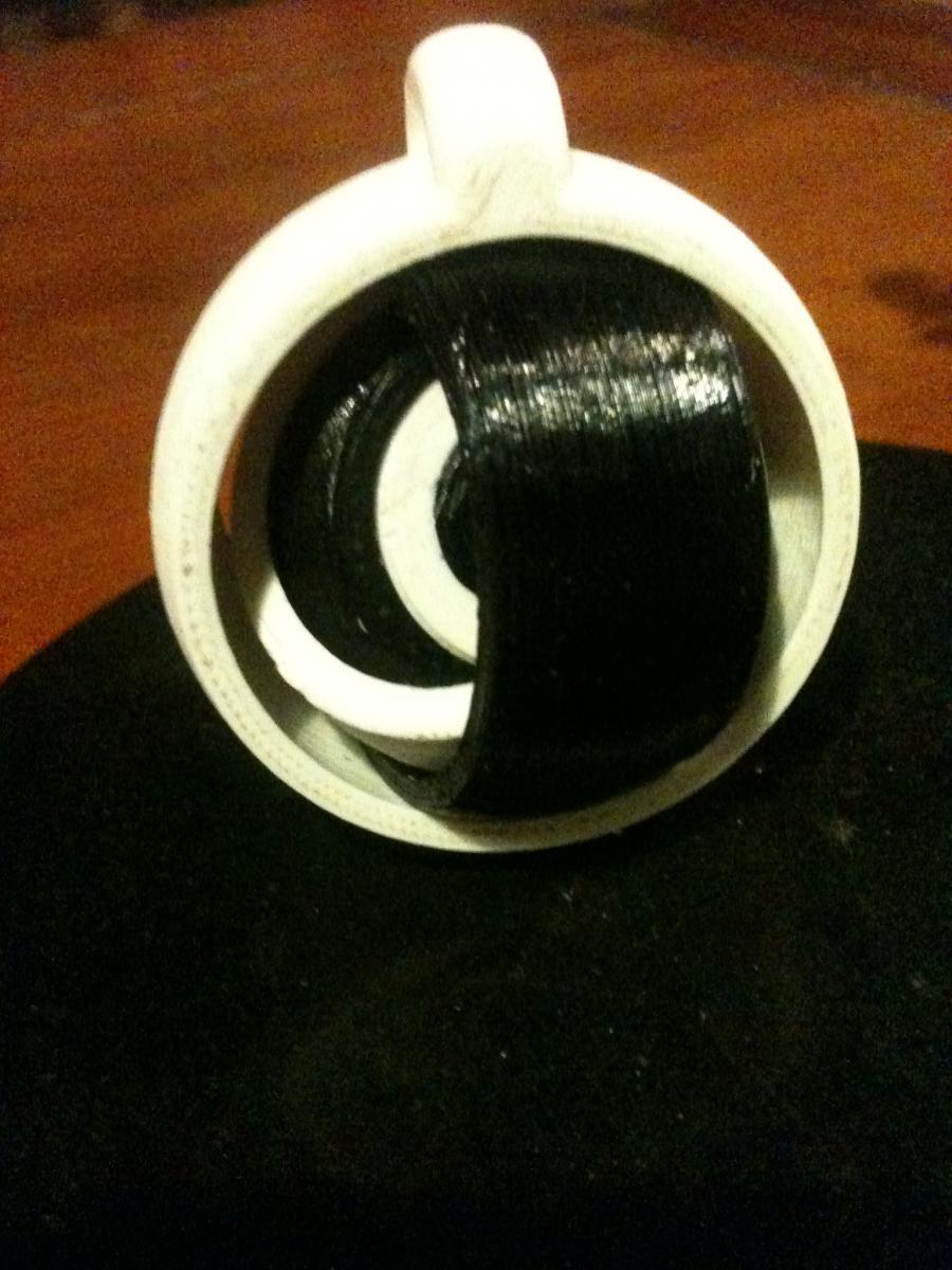 Porte clé gyroscopique