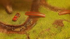 Pont et voiture à l'échelle N