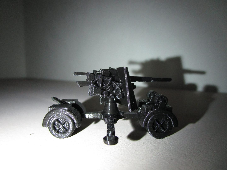Canon de 88 sur remorque 1/100