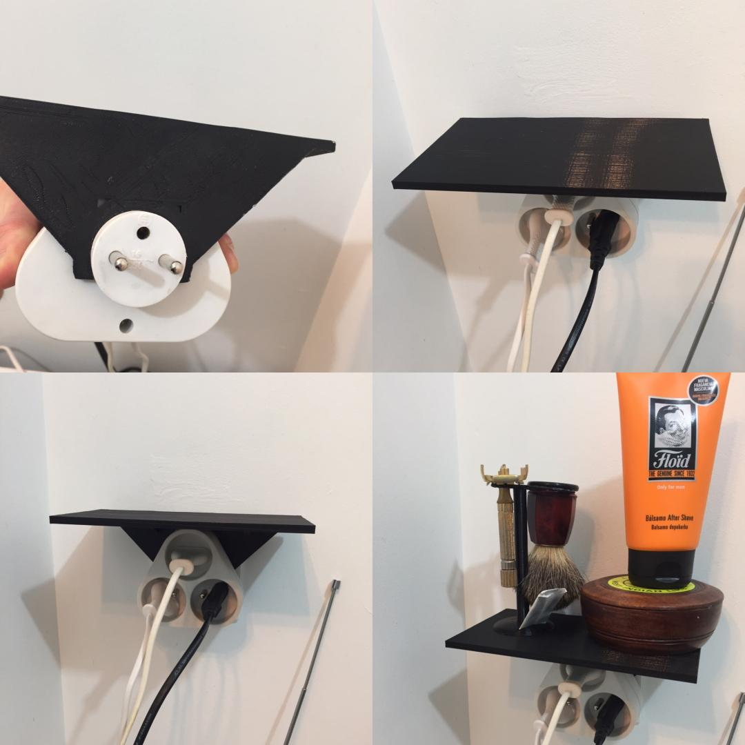 Shelf for power outlet