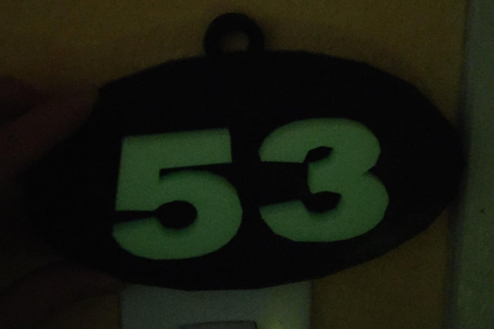 Numéro de rue phosphorescent