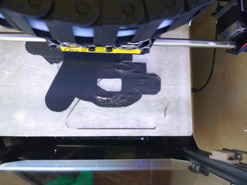 Dans l'imprimante