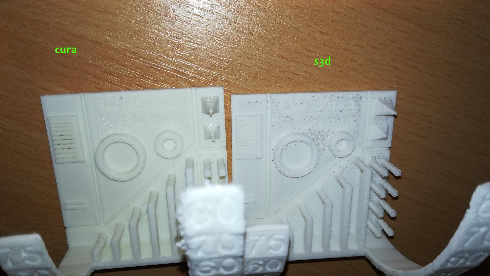 simplify3d] Essais Simplify 3D par rapport à Cura