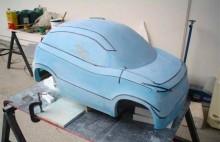 concept car automobile resine 3D