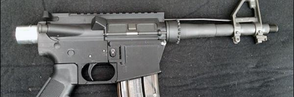 photo arme a feu fusil AR15 3D gun M4 M16