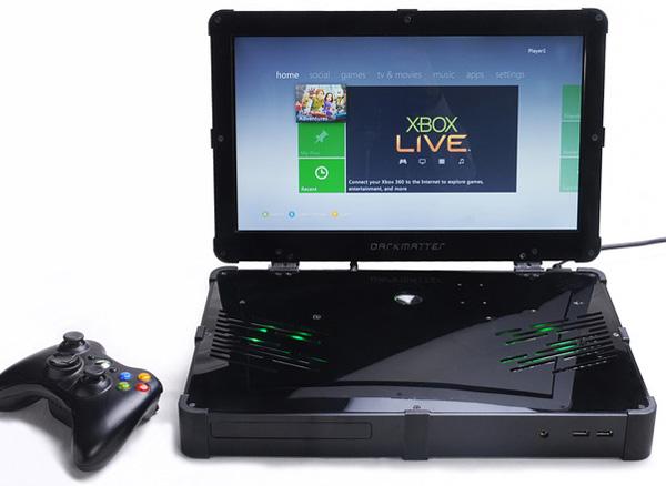 darkmatter xbox 360 portable écran intégré