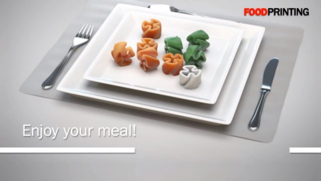Repas imprimé en 3D