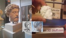 Statue de Marcus Aurelius scannée et imprimée en 3D