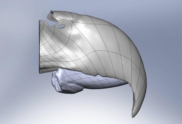Prothèse de bec modélisée en 3D