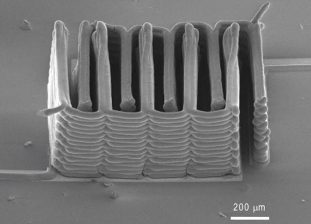 micro-batterie imprimée en 3D