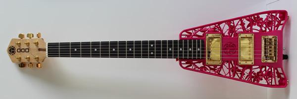scarab 3d printed guitar