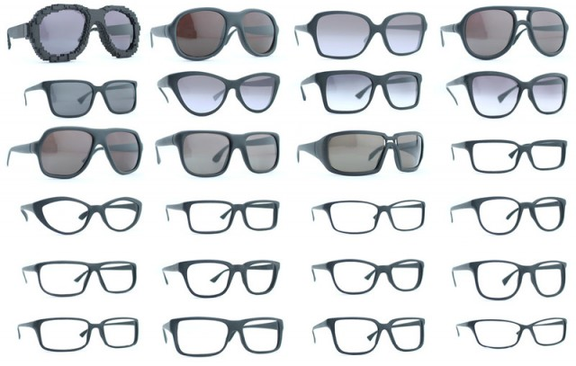 Modèles de lunettes Protos imprimées en 3D