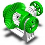 système d'engrenage différentiel imprimé en 3D