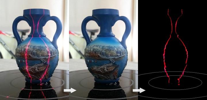 Numérisation d'un vase avec le scanner 3D Rubicon