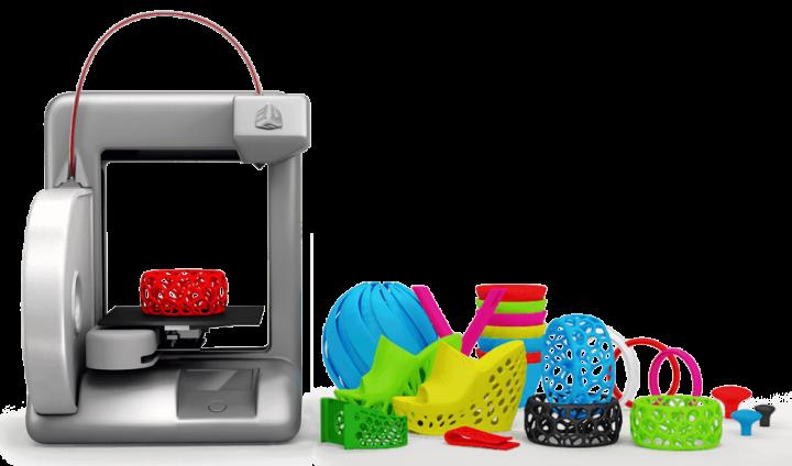 Objets imprimés en 3D avec la Cube