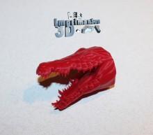 Tête de crocodile imprimée en 3D
