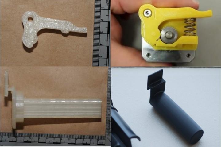 Fausses pièces d'arme à feu imprimées en 3D