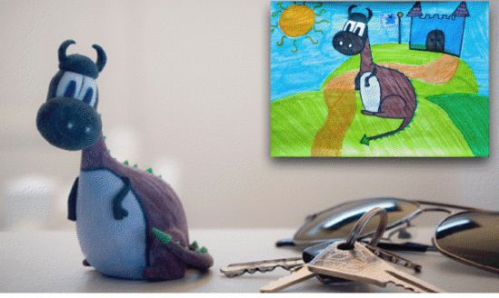 Porte clefs Kid Art 3D