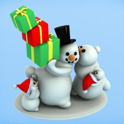 Les bonhommes de neige de Noël