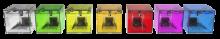 les différentes couleurs de l'atcube mini
