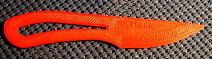 Couteau imprimé en 3D