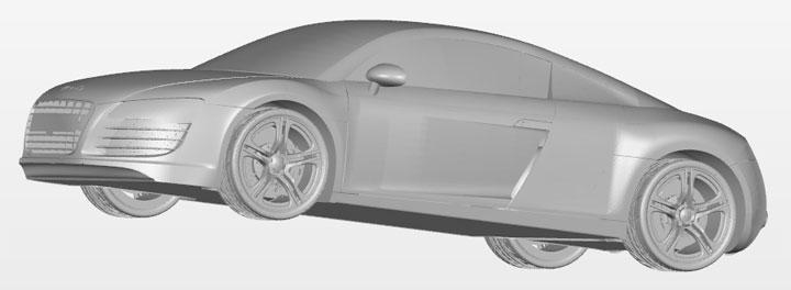 GrabCAD Audi R8 voiture miniature imprimante 3D