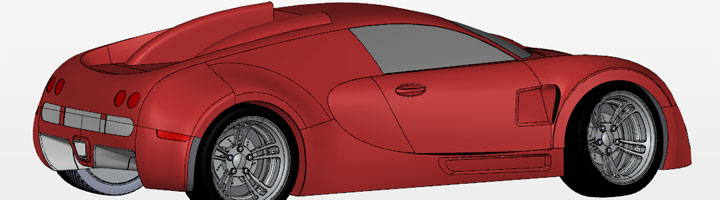 GrabCAD Bugatti Veyron voiture miniature imprimante 3D