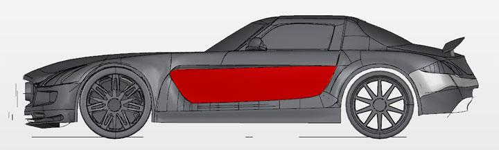 GrabCAD Mercedes Benz SLS AMG voiture miniature imprimante 3D