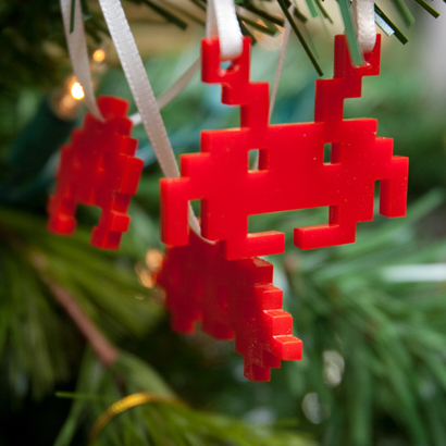 Décoration Noël Space Invader