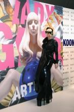 Lady Gaga Robe Imprimée En 3D 01