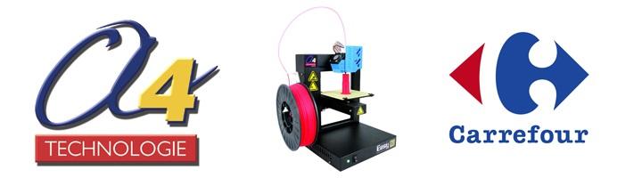 A4 imprimante 3D carrefour
