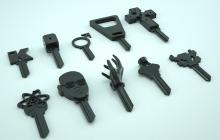 clefs imprimées personnalisées imprimées en 3D