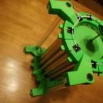 Moteur électrostatique imprimé en 3D debout