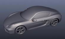 Porsche Cayman 3D STL