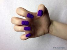 bijoux d'ongle violet imprimé en 3Dl-impression-3d