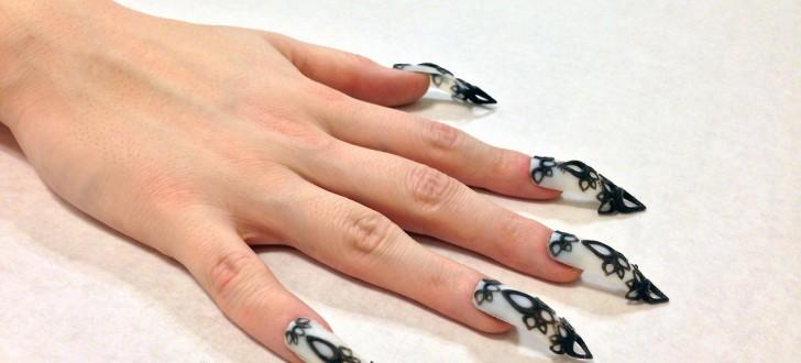 faux ongles imprimés en 3d