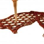 Zoom impression 3D chocolat