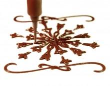 Flocon imprimé en 3D avec du chocolat