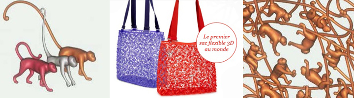 kipling 3d printed bag