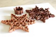 flocon en chocolat imprimé en 3D