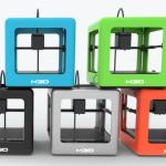 Les 5 coloris de l'imprimante 3D M3D