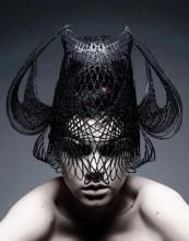 3Dprinted fashion photo défilé mode imprimante 3D casque visage