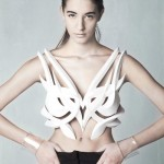 photo défilé mode imprimante 3D bustier poitrine