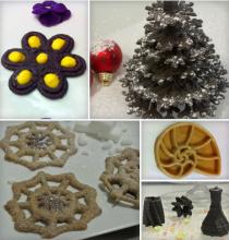 Plat imprimée en 3D avec la Foodini