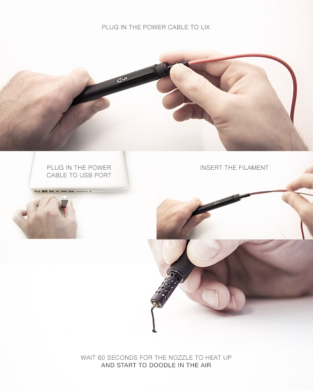 fonctionnement stylo 3d lix pen